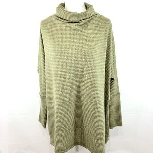 Free People Sweater Knit Oversize Mock Neck Size S